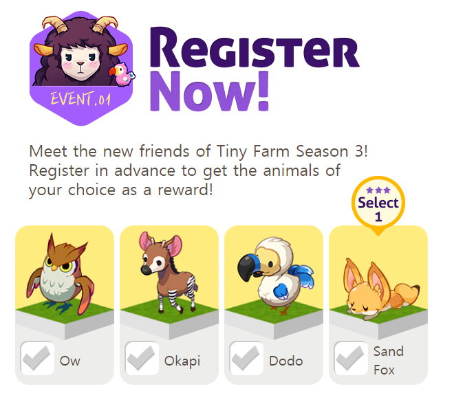 Tiny Farm Season 3 Mystery Forest Pre-Registration Event