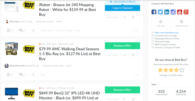 Rate Stores on Dealspotr