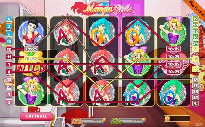 Manga Girls Anime Slots