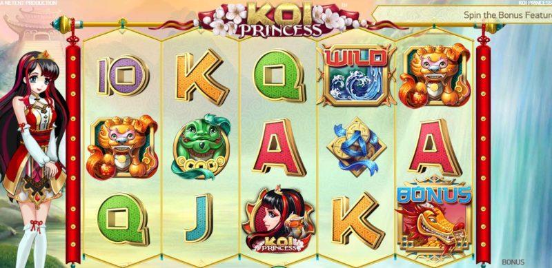Koi Princess Anime Casino Game