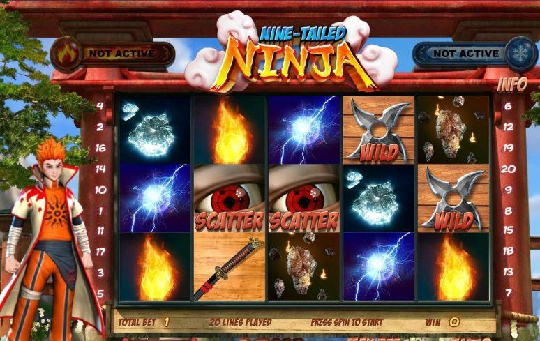 9 Tailed Ninja Naruto Anime Slot Machine