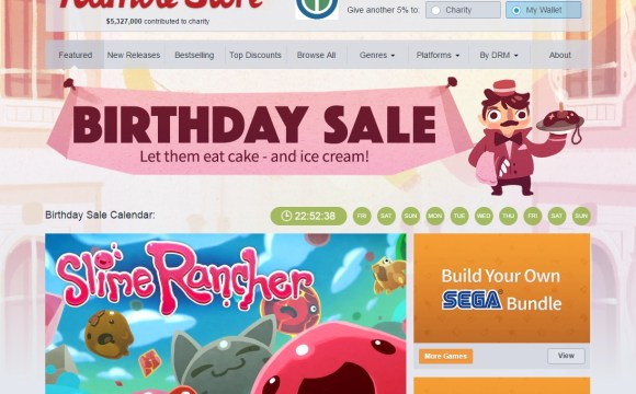 Some of the savings are up to 90% off. In fact, they're even giving you a free game just for visiting the website and registering or logging into your account.