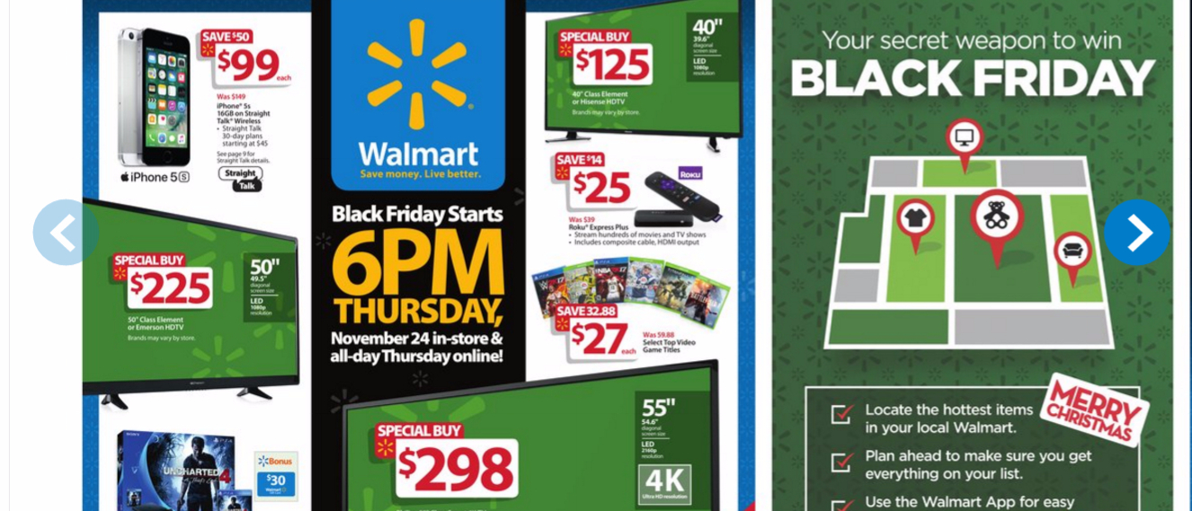 walmart blackfriday 2016 features 4k hdtvs for under 300. Black Bedroom Furniture Sets. Home Design Ideas