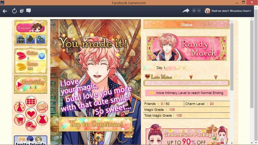 Play Wizardess Heart+ In Facebook Gameroom
