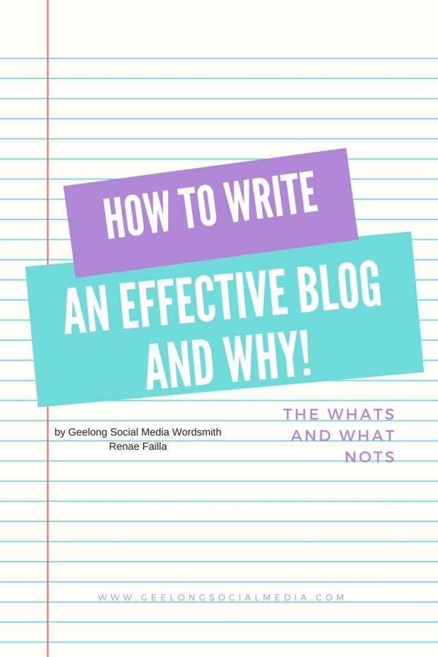How to Write and Effective Blog and Why