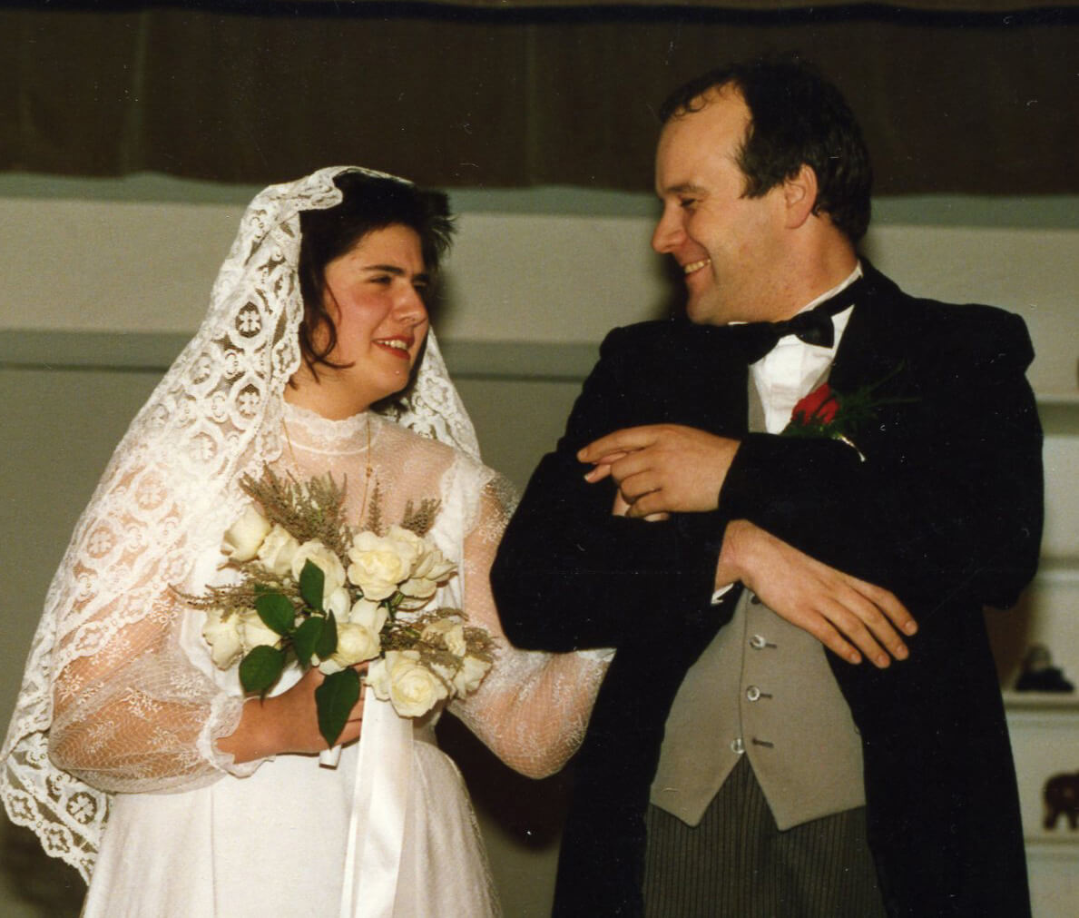 daar gaat de bruid