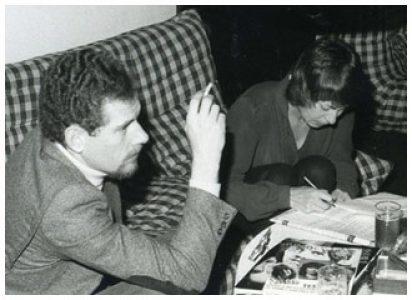 Jef Kestens en Jeannine Laenen, eerste GVT-beheerder en -voorzitster