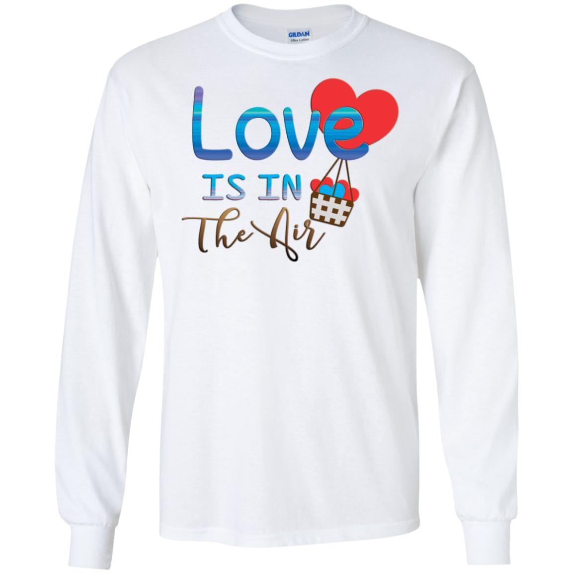 Love Is In Gildan LS Ultra Cotton T-Shirt