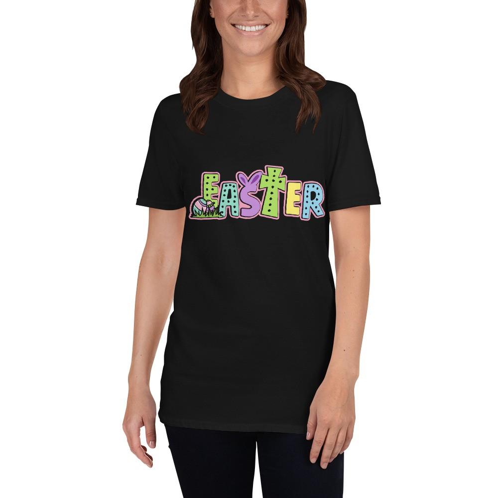 Easter - Easter Short-Sleeve Black Unisex T-Shirt