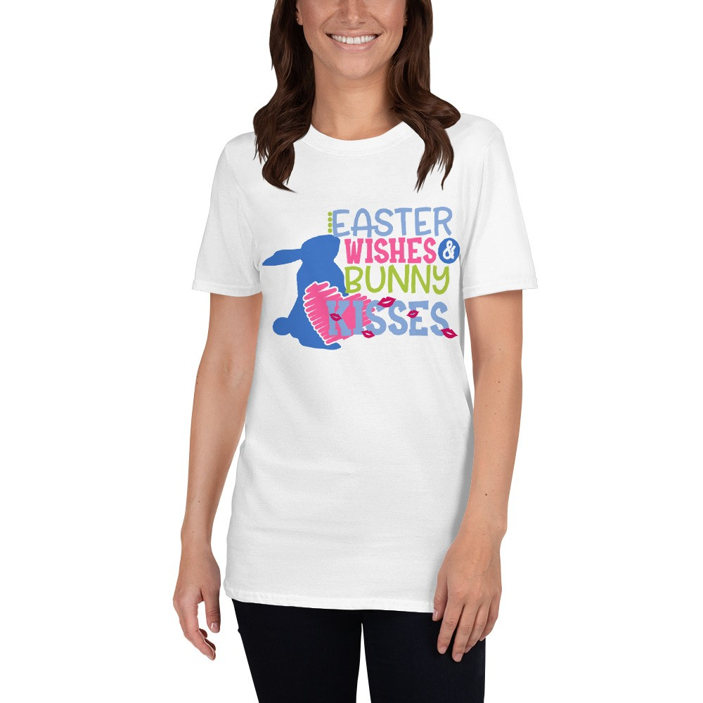 Easter - Easter Wishes Bunny Kisses Short-Sleeve Unisex T-Shirt