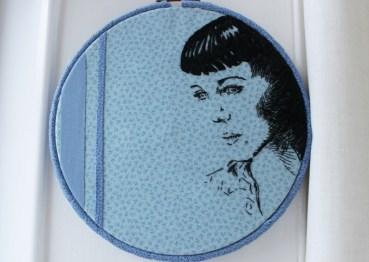 Kristin Hersh textile portrait by B Gillespie