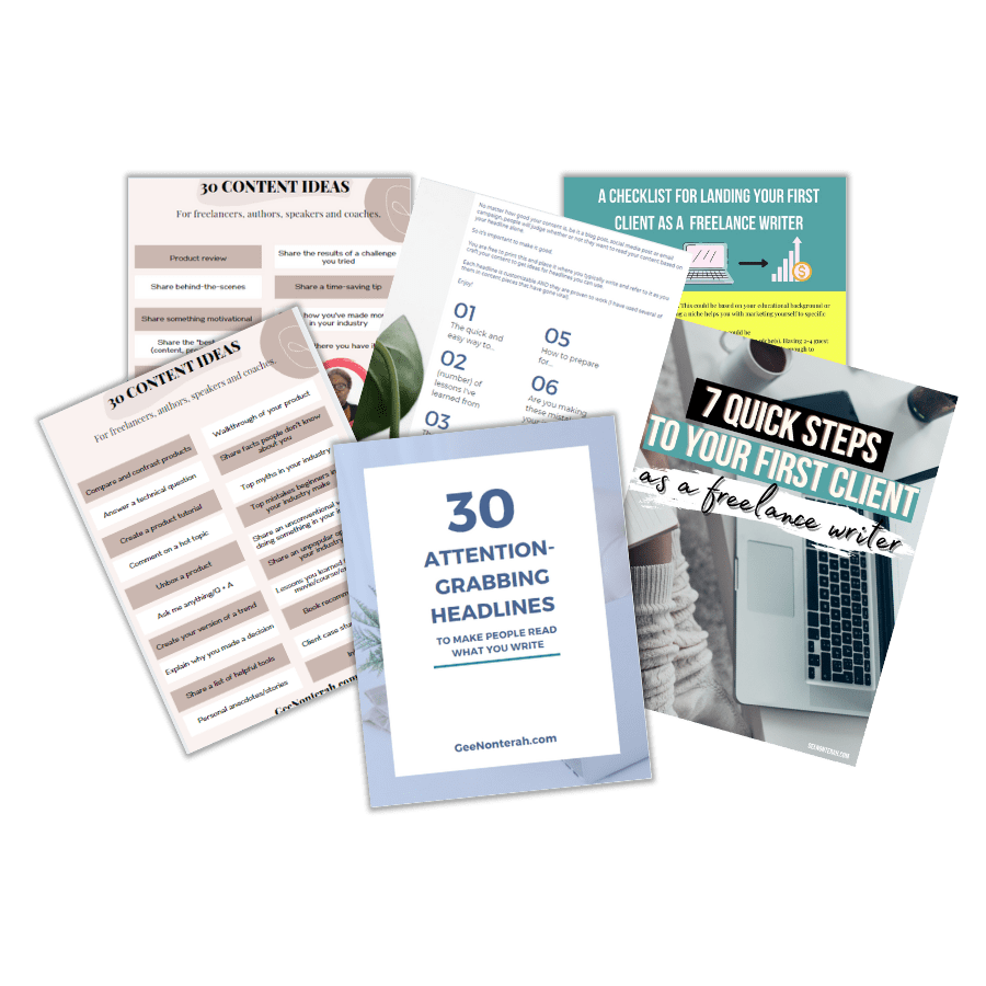 freebies for writers