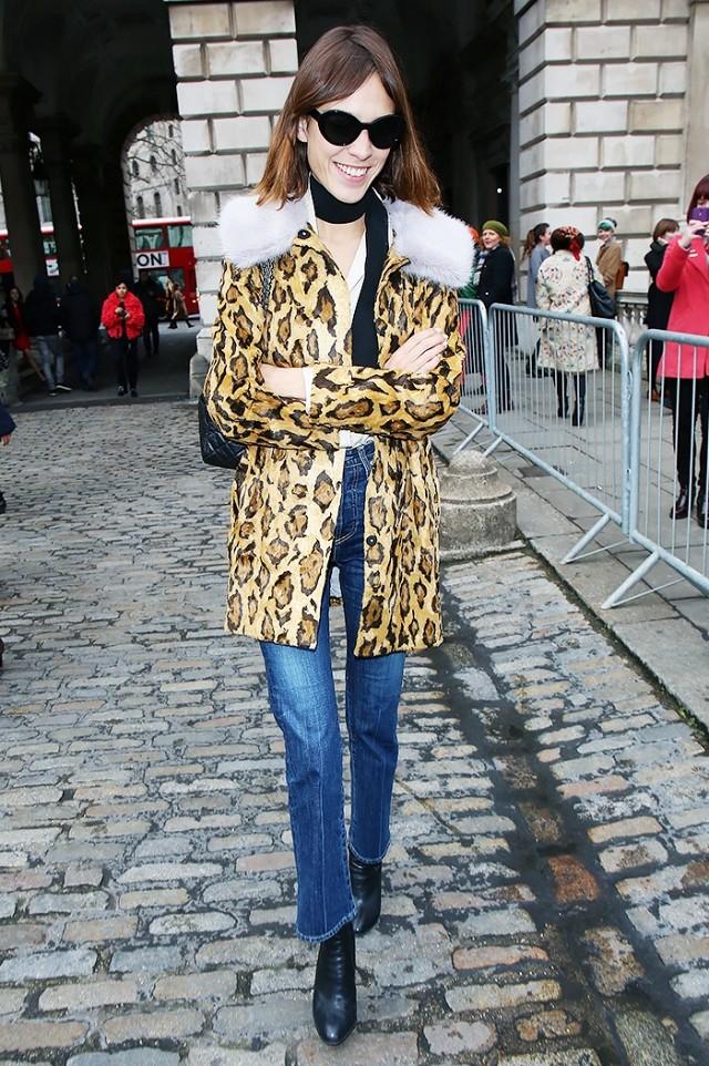 Photo Credit [Pinterest] Alexa Chung in leopard print coat