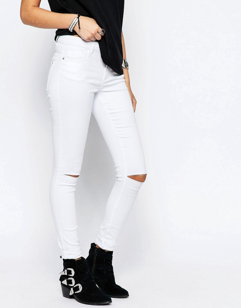 ASOS Only Royal Ankle Grazer Jeans With Knee Rips £30.00