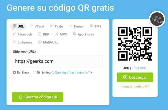 Generar códigos QR