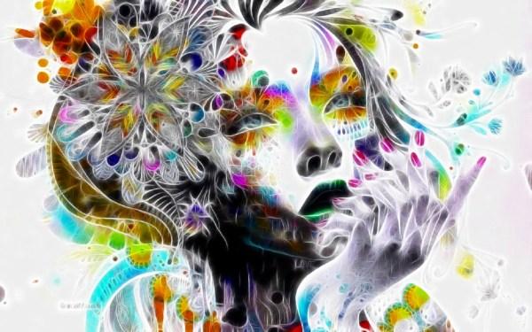 Trippy Psychedelic Art Woman