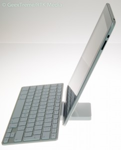 Apple's iPad and keyboard dock makes a stunningly minimalist computer system for basic tasks.