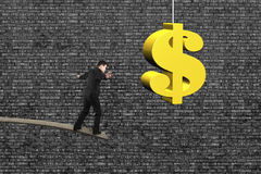 businessman-balancing-wooden-board-golden-dollar-sign-old-brick-wall-background-51308131