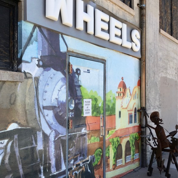 Wheels Museum Entrance.