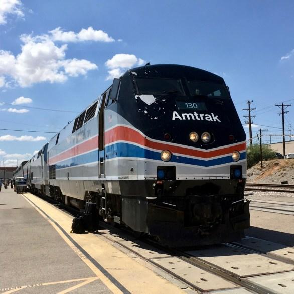 Amtrak train arrives in El Paso, TX