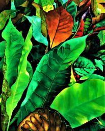 laura janes art piece tropical foliage VII