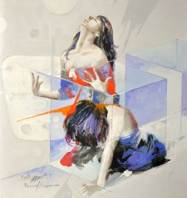 Woman in Glass Boxes 38