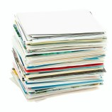 Stack of real estate agent cards