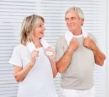Fitness senior couple
