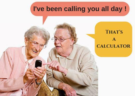Calculator not a phone