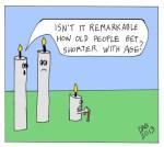 Older shorter candle