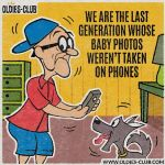 Cartoon - Last Genration with no phone baby photos