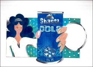 Shasta Cola Shelf talker