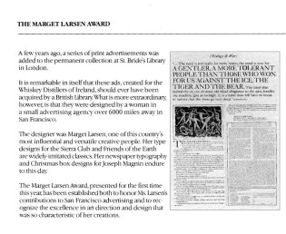 2-The Marget-Larsen-Award