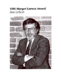 3-Alan-Lefkort-1981-Marget-Larsen.Award Winner