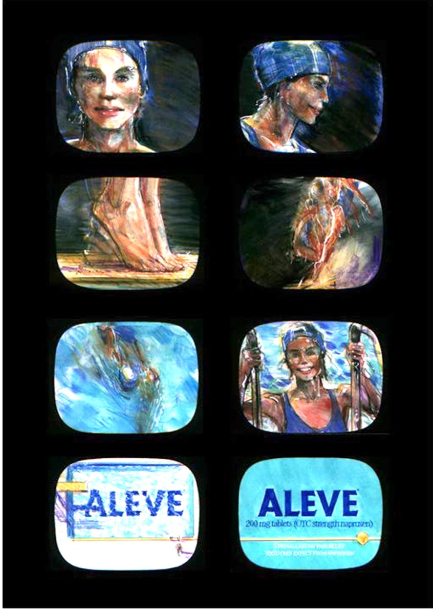 Aleve Launch storyboard