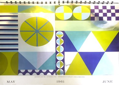 6. 1961 Calendar page