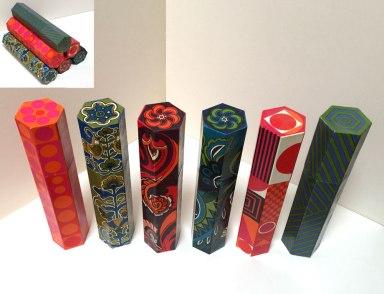 Six match boxes