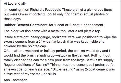 Description of Rubber Cement Containers