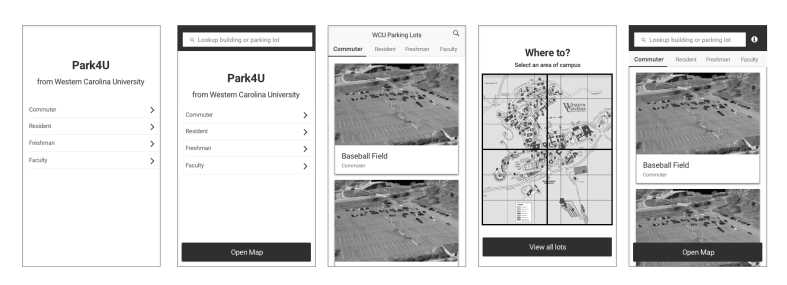 WCU Home Navigation Options