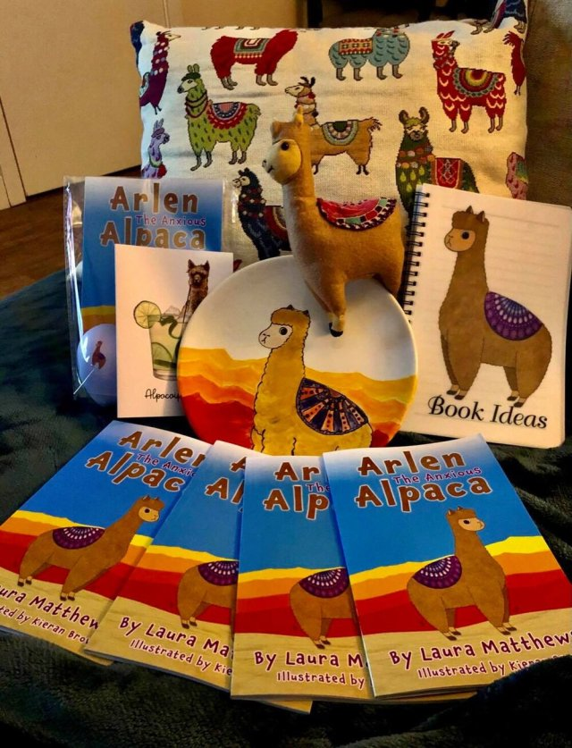 The book, which aims to help children understand anxiety, on display.jpg