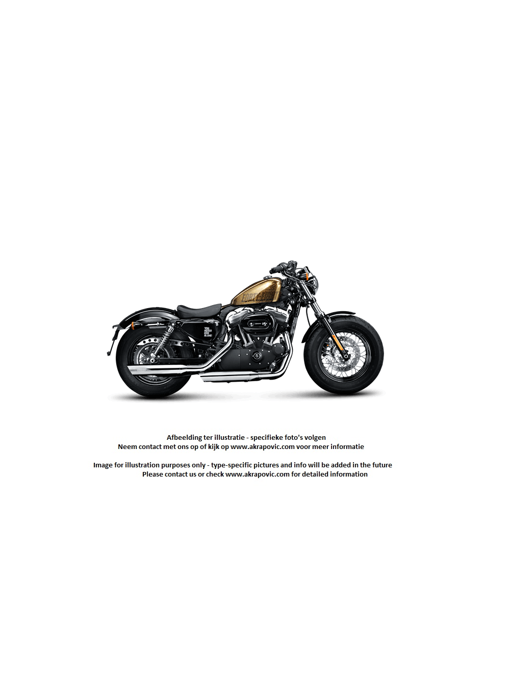 Akrapovic chrome exhaust slip-on line Dyna FXDWG Wide