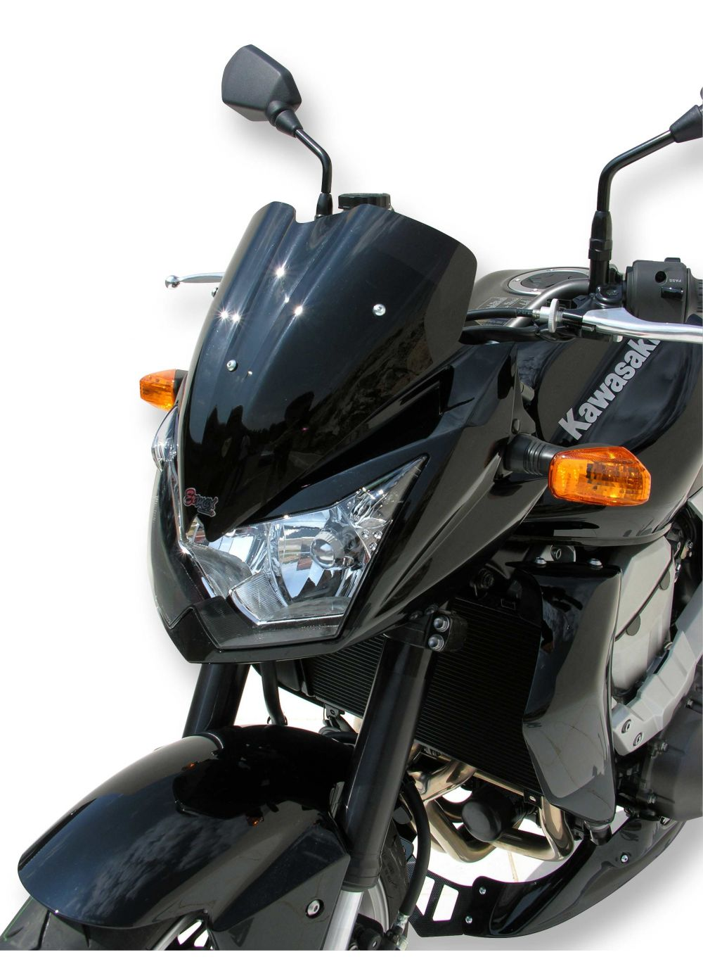 hight resolution of  ermax flyscreen windshield 33cm z750 2007 2013 incl installation kit