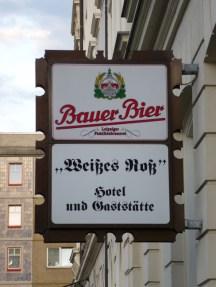 Bauer-Werbung in der Auguste-Schmidt-Straße