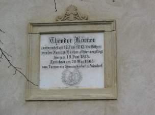 Inschrift am Körnerhaus
