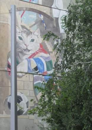 Katze in der Prager Straße