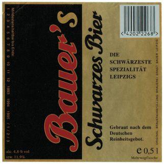 Bauer-Etikett aus den 1990er Jahren