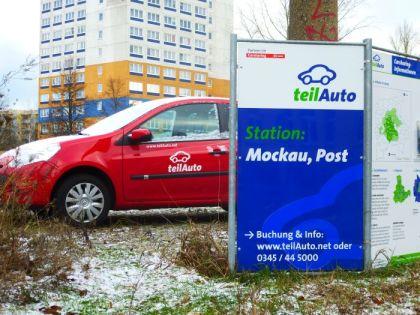 Teilautostation an der Mockauer Post