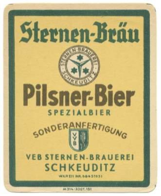 Cerveza tipo Pilsen Sternen-Bräu