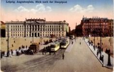 Hauptpost auf einer historischen Postkarte