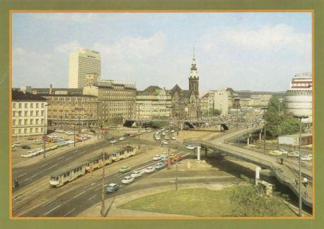 Postkarte Friedrich-Engels-Platz, 1980er Jahre